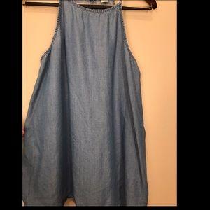 OldNavy Denim Sleeveless Top size Large